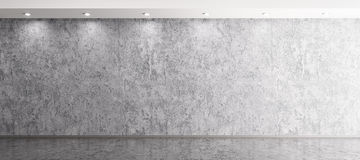 Interior background of room with concrete wall 3d rendering Royalty Free Stock Photos