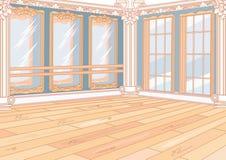 Interior Ballet studio with mirrors. Ballet studio with mirrors, spacious interior for a dance class royalty free illustration