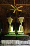 Interior, Bamboo house. Interior, bedroom in Bamboo house Stock Photography