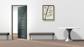 Interior with bamboo picture Royalty Free Stock Image