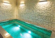 Interior, banheira de hidromassagem Foto de Stock