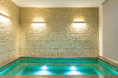 Interior, banheira de hidromassagem Fotografia de Stock Royalty Free