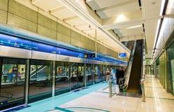 Interior of Baniyas Square metro station Royalty Free Stock Photos