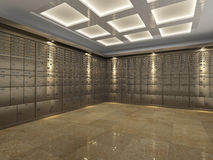 Interior of a bank vault Stock Photo