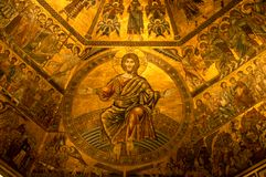 Interior of Baptistry, Florence, Italy Stock Image