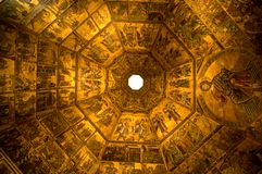 Interior of Baptistry, Florence, Italy Royalty Free Stock Images