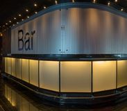 Interior bar, a closed lounge bar in a hotel, airport, restaurant. With curtains closed Stock Photography
