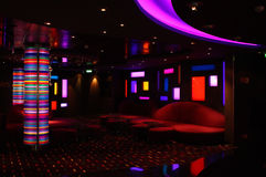 Interior of the bar-disco Royalty Free Stock Images