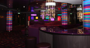 Interior bar & disco  club Royalty Free Stock Images