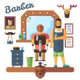 Interior barbershop Stock Photos
