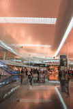 Interior of Barcelona Airport, Spain. Royalty Free Stock Images