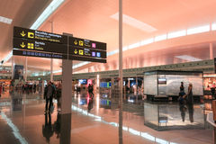 Interior of Barcelona Airport, Spain. Stock Photos
