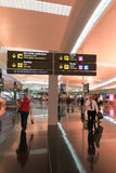 Interior of Barcelona Airport, Spain. Royalty Free Stock Photos