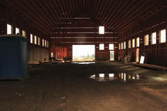 Interior Barn Under Construction Royalty Free Stock Photos