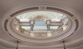 Interior baroque architecture. Interior shot of baroque architecture in an old city hall Stock Photo