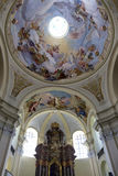 Interior of baroque Basilica of the Visitation Virgin Mary, place of pilgrimage, Hejnice, Czech Republic. Interior of Basilica of the Visitation Virgin Mary Stock Photos