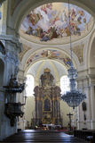 Interior of baroque Basilica of the Visitation Virgin Mary, place of pilgrimage, Hejnice, Czech Republic. Interior of Basilica of the Visitation Virgin Mary Stock Photography
