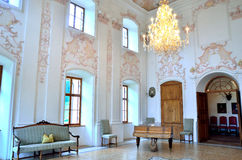 Interior of baroque castle wolfsthurn Stock Image