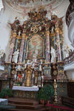 Interior baroque church Royalty Free Stock Photo