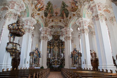Interior baroque church Stock Photo