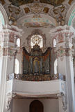 Interior of a  baroque church Stock Photos