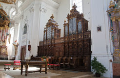 Interior baroque church Royalty Free Stock Photos