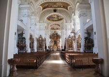 Interior of a baroque church Stock Photo
