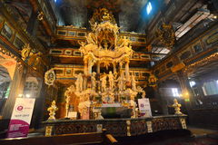 Interior of baroque church of peace in Swidnica Royalty Free Stock Photo