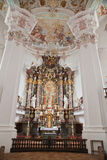 Interior baroque church Stock Images