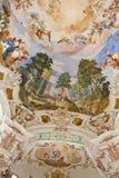 Interior baroque church Stock Images