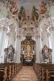 Interior baroque church Royalty Free Stock Photo