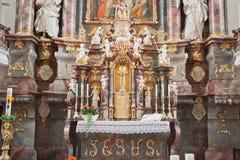 Interior baroque church Stock Photography