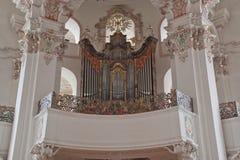 Interior baroque church Stock Photo