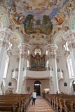 Interior baroque church Royalty Free Stock Images
