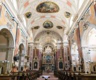 Interior barroco de la abadía escocesa, Viena, Austria Fotografía de archivo libre de regalías