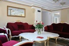 Interior barroco del hotel del estilo Fotos de archivo