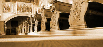 Interior basilica Royalty Free Stock Photography