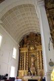 The interior of The Basilica of Bom Jesus of Old Goa Goa Velha stock photo