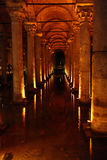 Interior of Basilica Cistern Stock Images