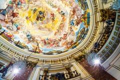 Interior of Basilica de los Desamparados in Valencia Stock Images