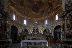Interior of the Basilica della Santissima Annunziata in Florence. The Basilica della Santissima Annunziata & x28;Basilica of the Most Holy Annunciation& x29; is Stock Images