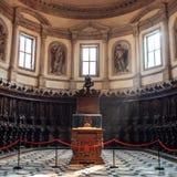 Interior of Basilica di San Giorgio Maggiore stock photo