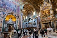 Interior of the Basilica di San Giovanni in Laterano, Rome Royalty Free Stock Images