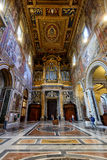 Interior of the Basilica di San Giovanni in Laterano, Rome Royalty Free Stock Images
