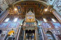 Interior of the Basilica di San Giovanni in Laterano in Rome Stock Photography