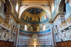 Interior of the Basilica di San Giovanni in Laterano, Rome Royalty Free Stock Photo