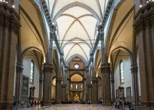 Interior of the Basilica di Santa Maria del Fiore in Florence, I Royalty Free Stock Image
