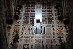 Interior of the St. Peters Basilica in Vatican, Italy. Vatican, Italy - November 27, 2014. Aerial view of people inside the St. Peters Basilica in Vatican ( Stock Image