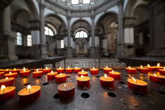 Interior of Basilica di Santa Maria della Salute, Venice, Italy Stock Photos