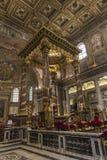 Interior of the Basilica di Santa Maria Maggiore in Rome, Italy. Royalty Free Stock Photo